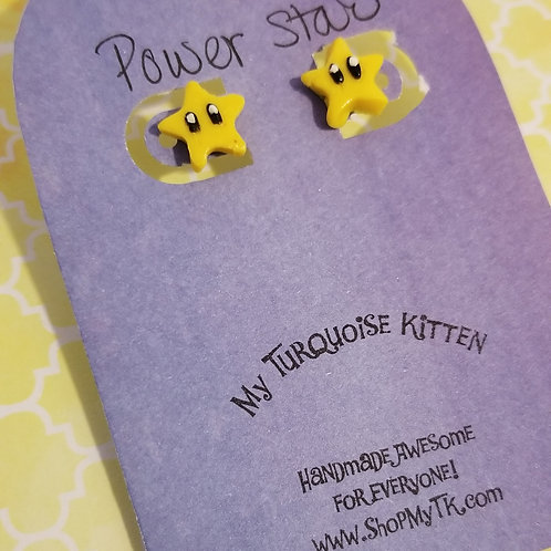Power Star Stud Earrings