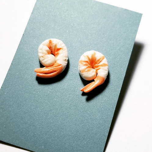 Cooked Shrimp Stud Earrings