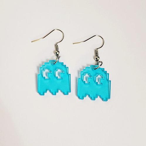 8-Bit Mania Blue Ghost