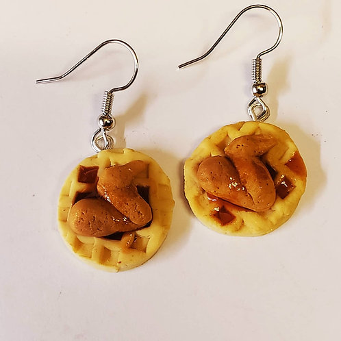 Chicken and Waffles earrings