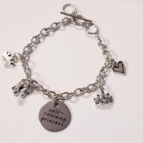 Self-Rescuing Princess Charm Bracelet