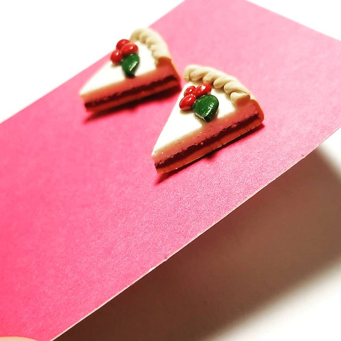 Festive Pie Stud Earrings