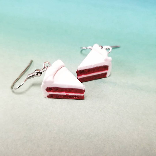Red Velvet Cake Earrings