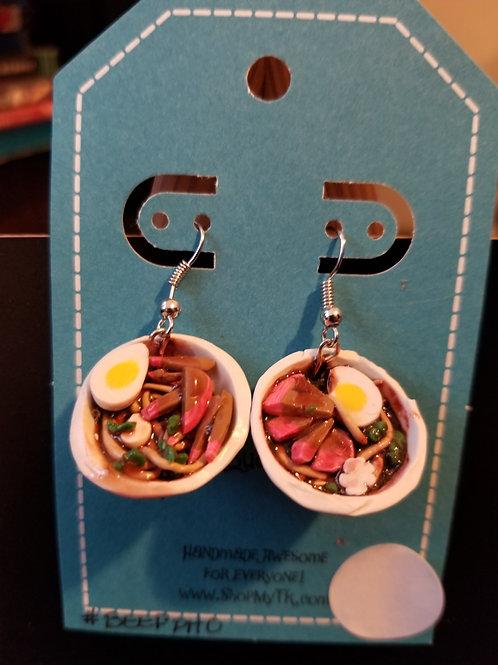 Beef Ramen Bowl Earrings