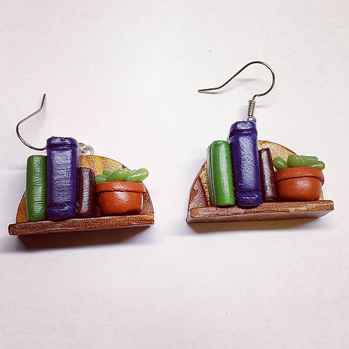 Bookshelf Earrings