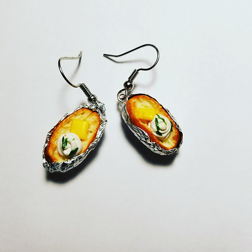 Baked Potato Earrings