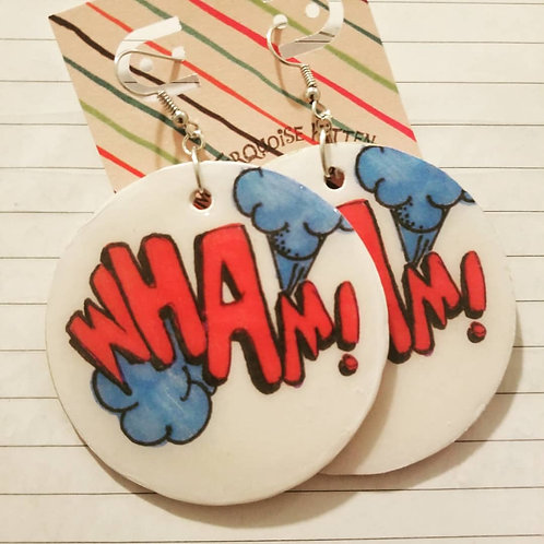 WHAM! Action Words Earrings (Large)