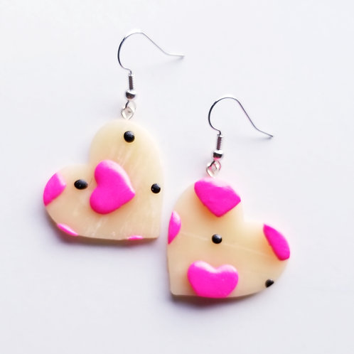 Valentine's Hearts and Spots Earrings