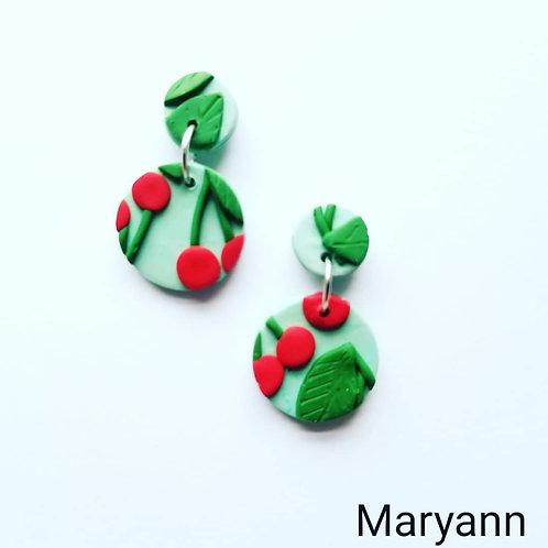 Cherry Slab Earrings- Maryann