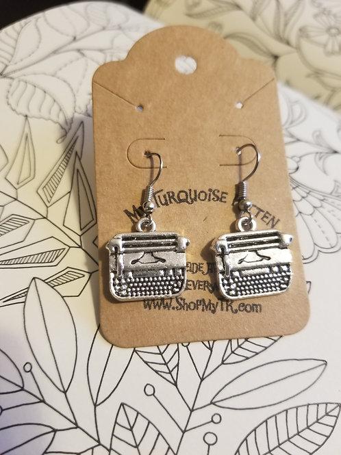 Typewriter Charm Earrings