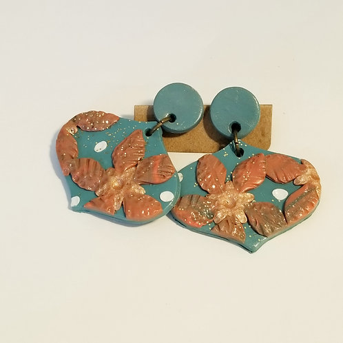 Turquoise & Gold Slab - Ornament