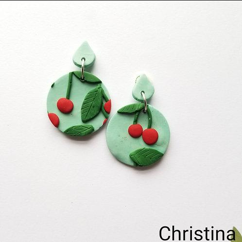 Cherry Slab Earrings- Christina