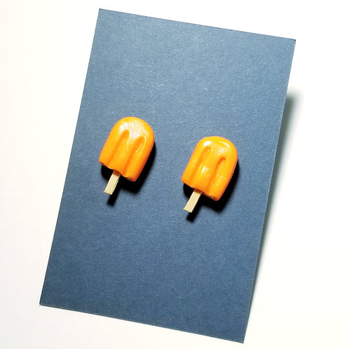 Orange Cream Pop Stud Earrings