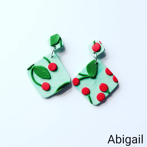 Cherry Slab Earrings- Abigail