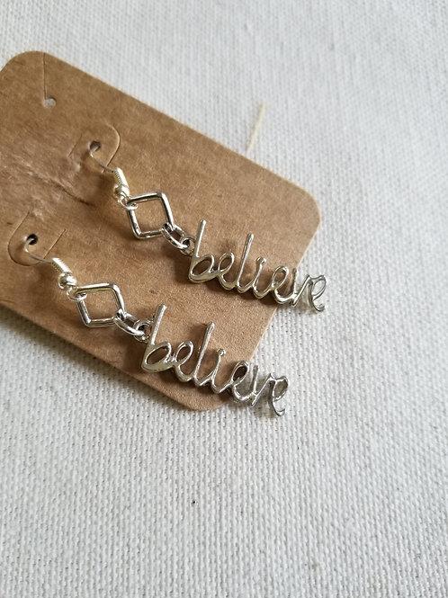 BELIEVE earrings