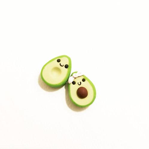 Kawaii Happy Avo Family Earrings