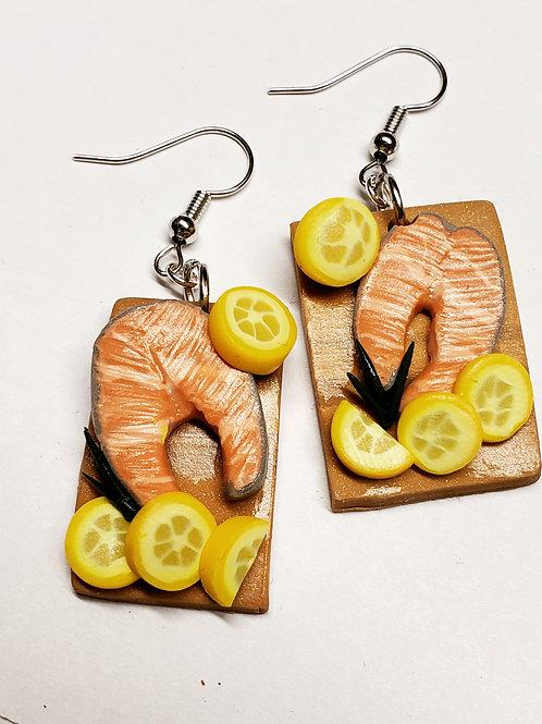 Salmon Platter Earrings