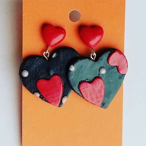 Black and Red Valentine's Hearts #5