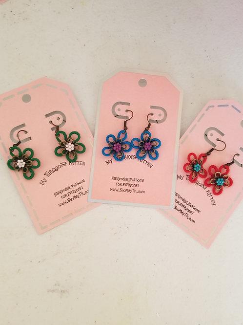 Wired Flower Earrings