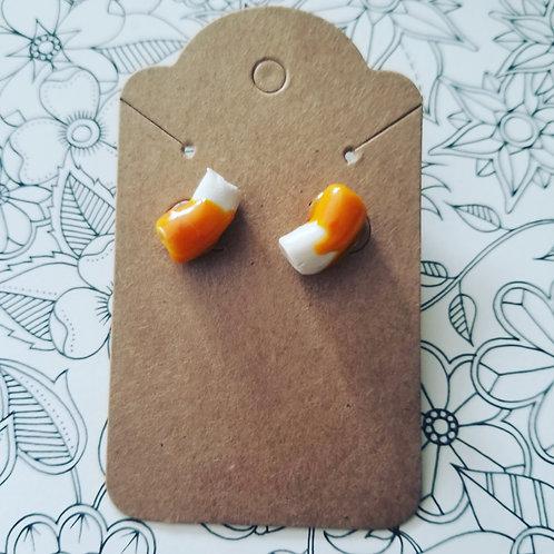 Macaroni and Cheese stud earrings
