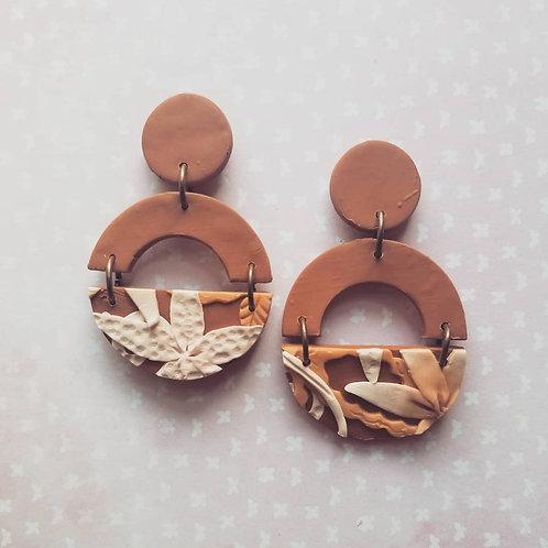 Terra Cotta Slab Earrings 3