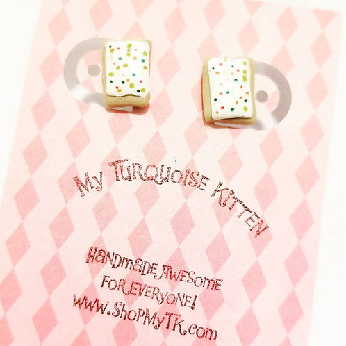 Strawberry Poptart Stud Earrings