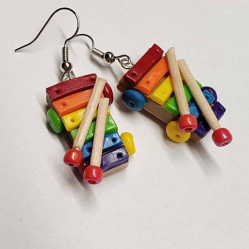 Rainbow Xylophone Earrings