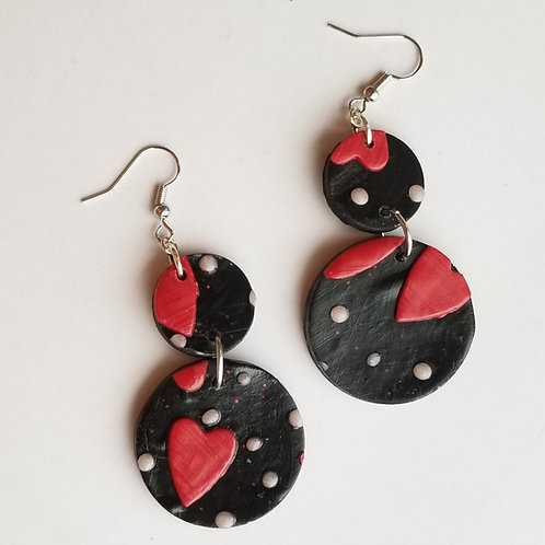 Black and Red Valentine's Hearts #3