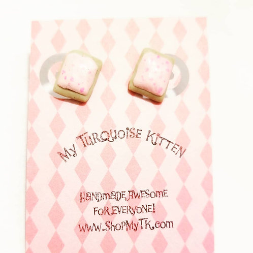Cherry Poptart Stud Earrings