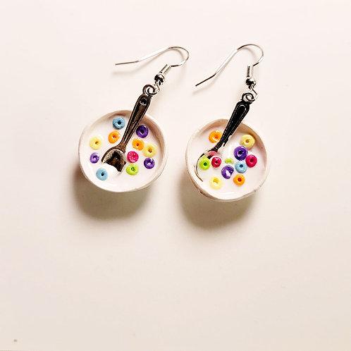 Fruity Rings Cereal Bowl Earrings