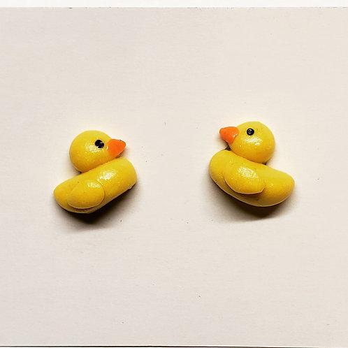 Rubber Duckie Stud Earrings