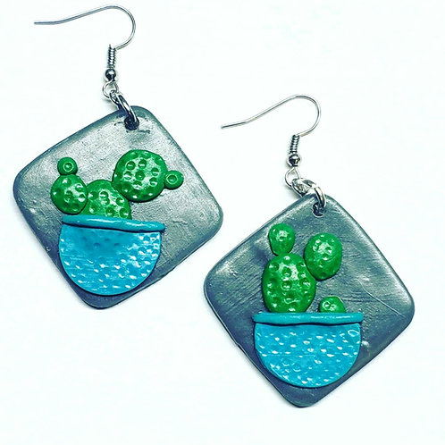 Potted Cactus Earrings