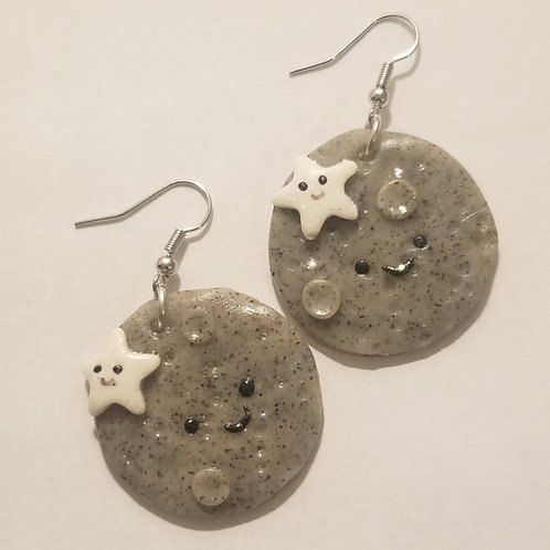Kawaii Moon and Star Earrings