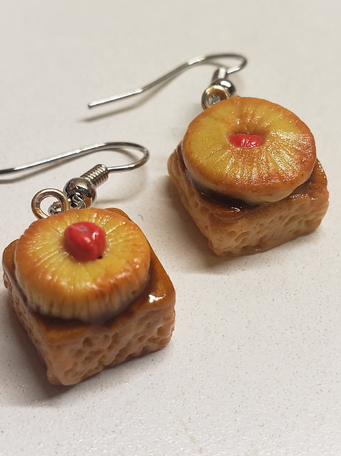 Pineapple Upside Down Cake Earrings