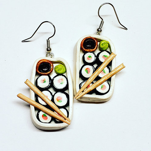 Sushi Roll Platter Earrings