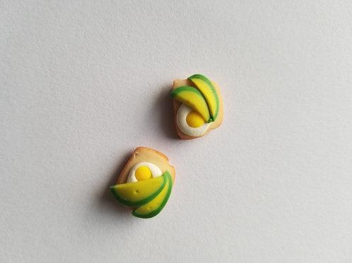 Mini Avocado Toast Post Earrings