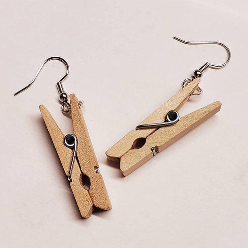 Clothes Pin Earrings