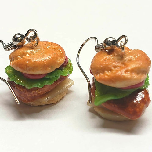 Crispy Chicken Sandwich Earrings