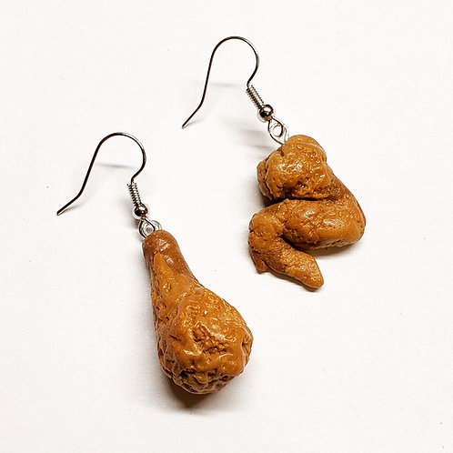 Chicken Wing and Leg Earrings