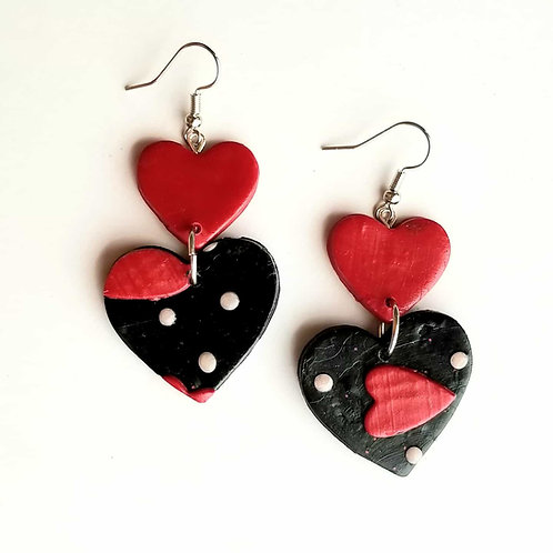 Black and Red Valentine's Hearts #1