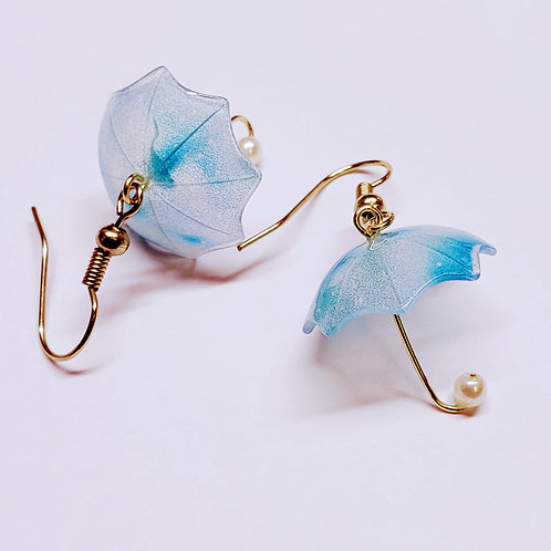 Little Blue Umbrella Earrings
