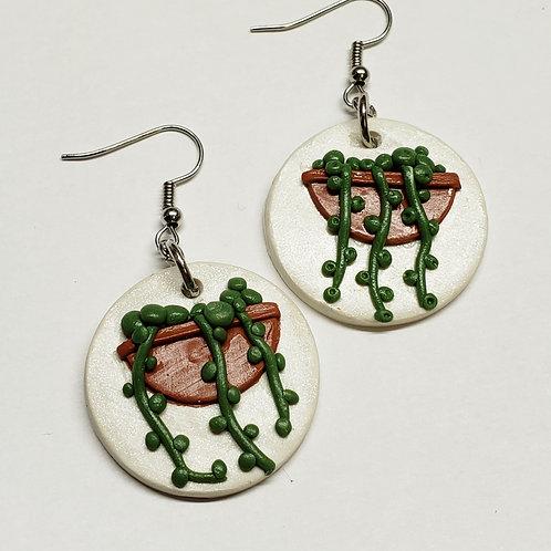 String of Pearls Plant Earrings