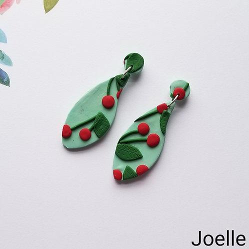 Cherry Slab Earrings- Joelle