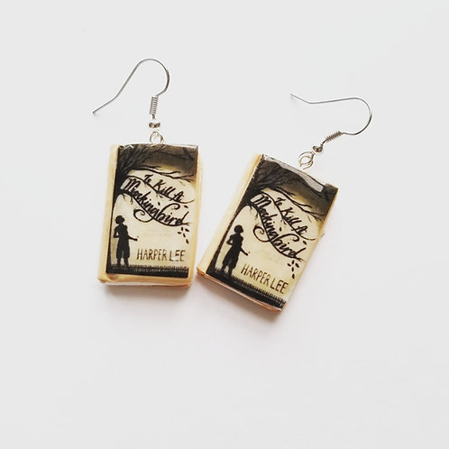 "Book Earrings ""To Kill A Mockingbird"""