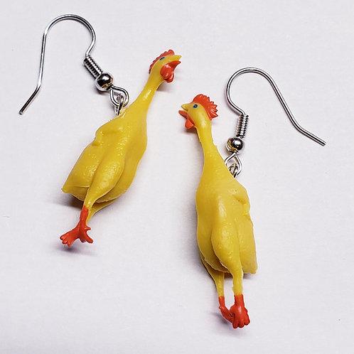 Rubber Chicken Earrings