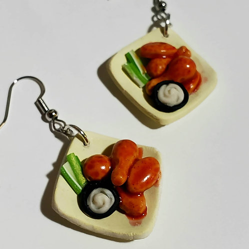 Hot Wings Plate Earrings