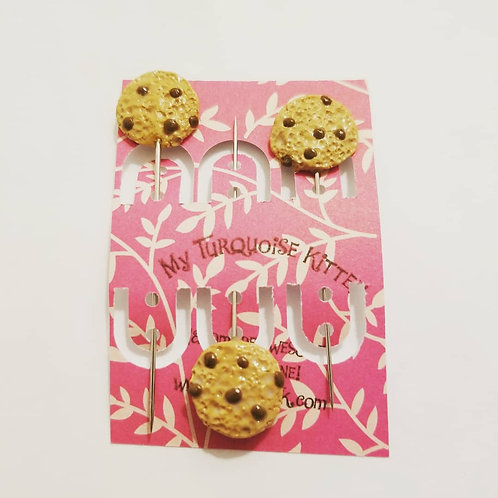 Chocolate Chip Cookie Scarf/Hijab Pins