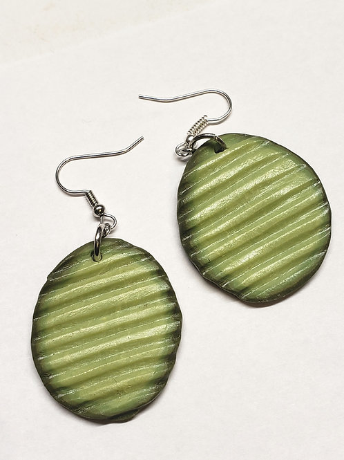 Pickle Slice Earrings