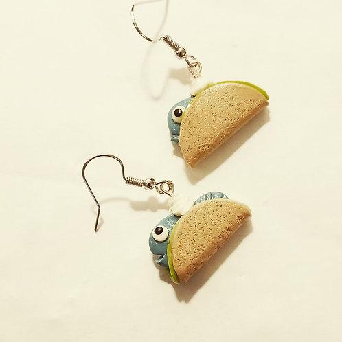 Fish Taco Earrings