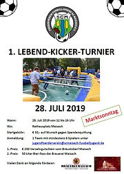Förderverein Jugendfußball des SCMaisach e.V. - Lebendkicker in Maisach